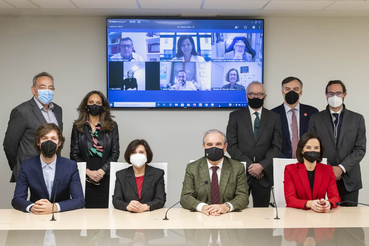 Representantes de los organismos que constituyen la Mesa de la Profesión Farmacéutica.