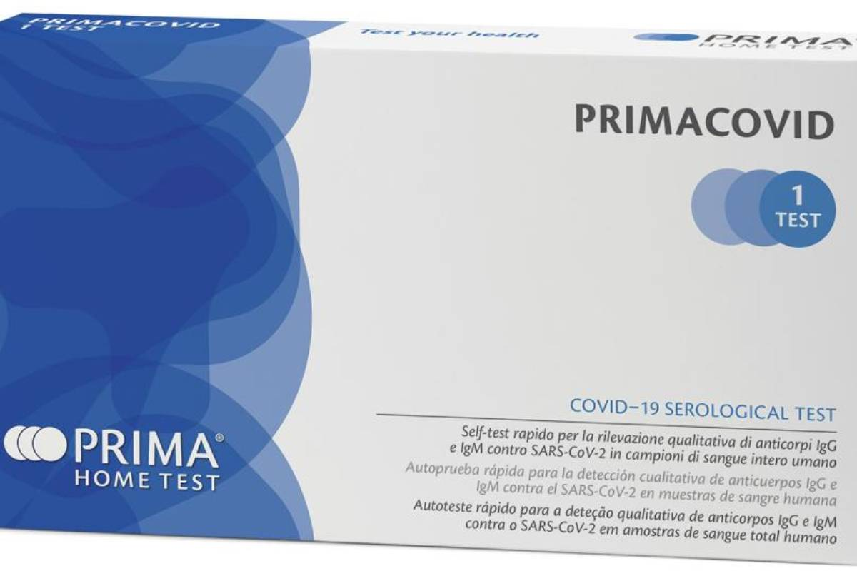 'Primacovid', test de autodiagnóstico covid, del alemán Prima Lab.