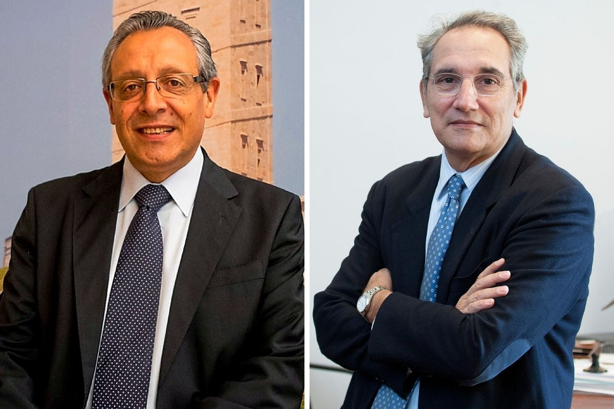 Tomás Toranzo, presidente de CESM, y Vicenç Martínez, director de Ordenación Profesional del Ministerio de Sanidad, en fotos de archivo.
