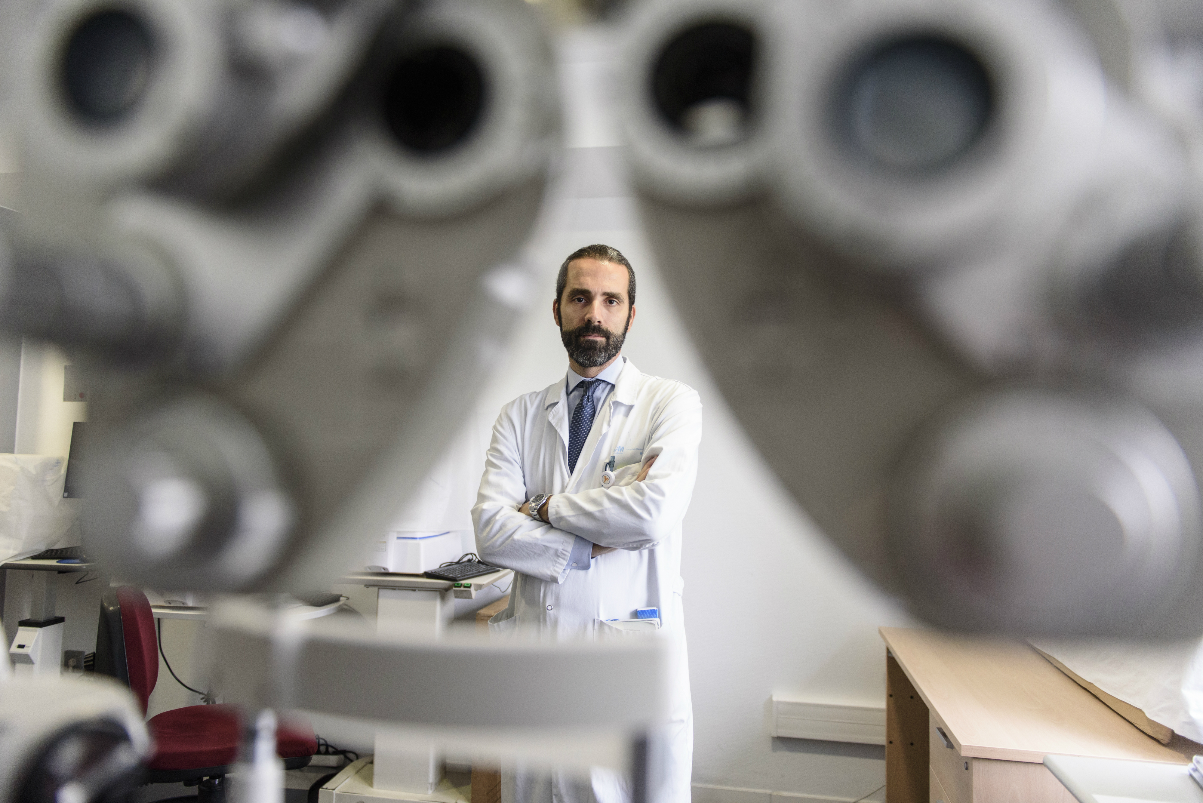 Pedro Arriola, ganador del premio Hermenegildo Arruga al mejor oftalmólogo menor de 40 años.