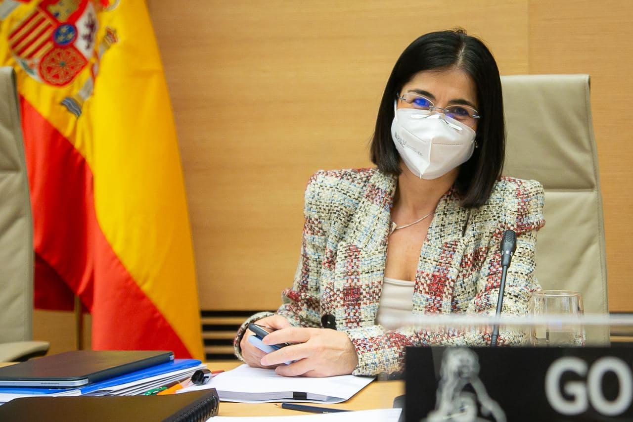 La ministra de Sanidad, Carolina Darias, en la Comisión de Sanidad del Congreso de los Diputados.