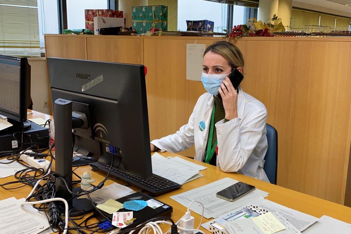 Estefanía López, enfermera del equipo de vacunación covid.