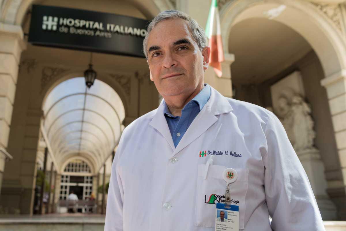 Waldo Belloso, farmacólogo e infectólogo del Hospital Italiano de Buenos Aires.