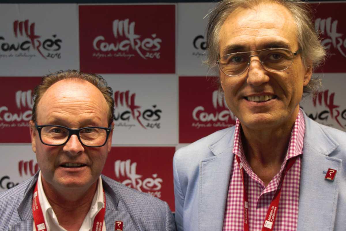 Cruz y Puig, presidente y secretario general de MC, juntos.