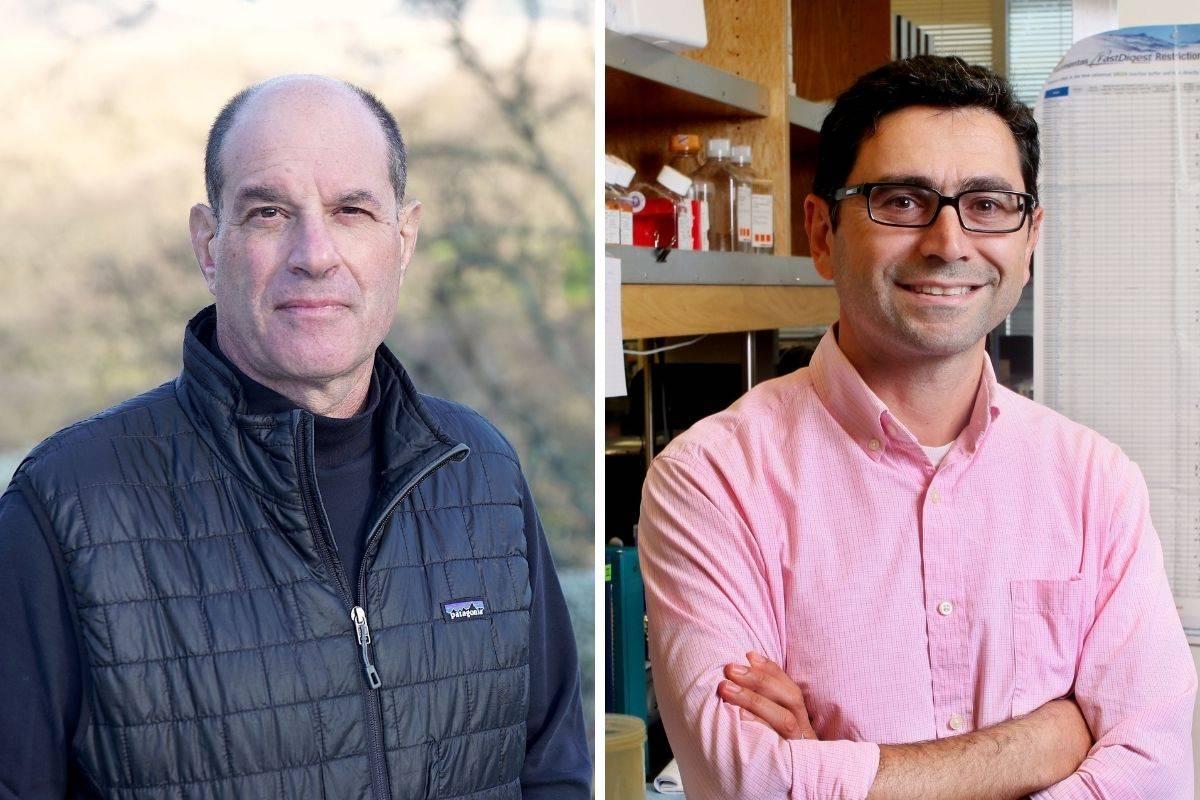 David Julius, a la izquierda, y Ardem Patapoutian, descubridores de los recceptores que modulan el dolor, la temperatura y la presión arterial. FOTO: Fundación BBVA.