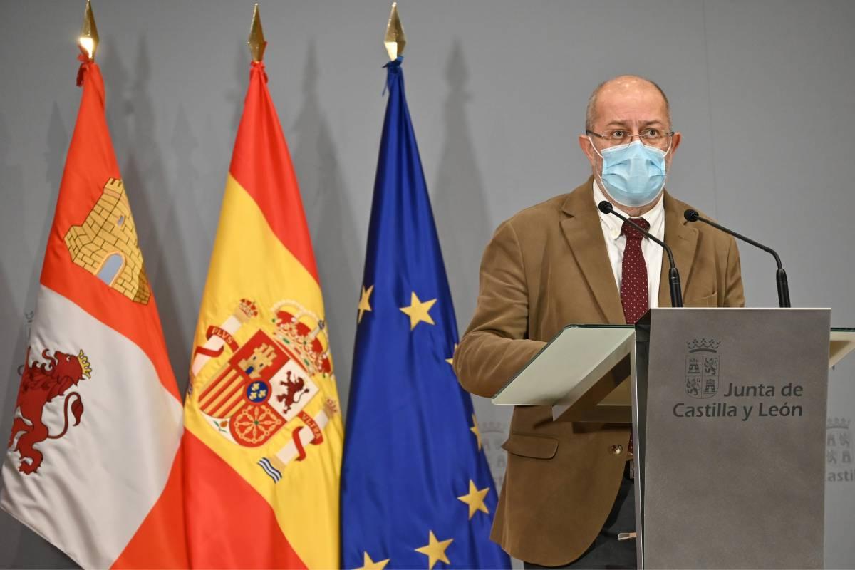 Francisco Igea, vicepresidente de la Junta de Castilla y León, en la rueda de prensa donde ha detallado las nuevas restricciones (Foto: Junta de Castilla y León)