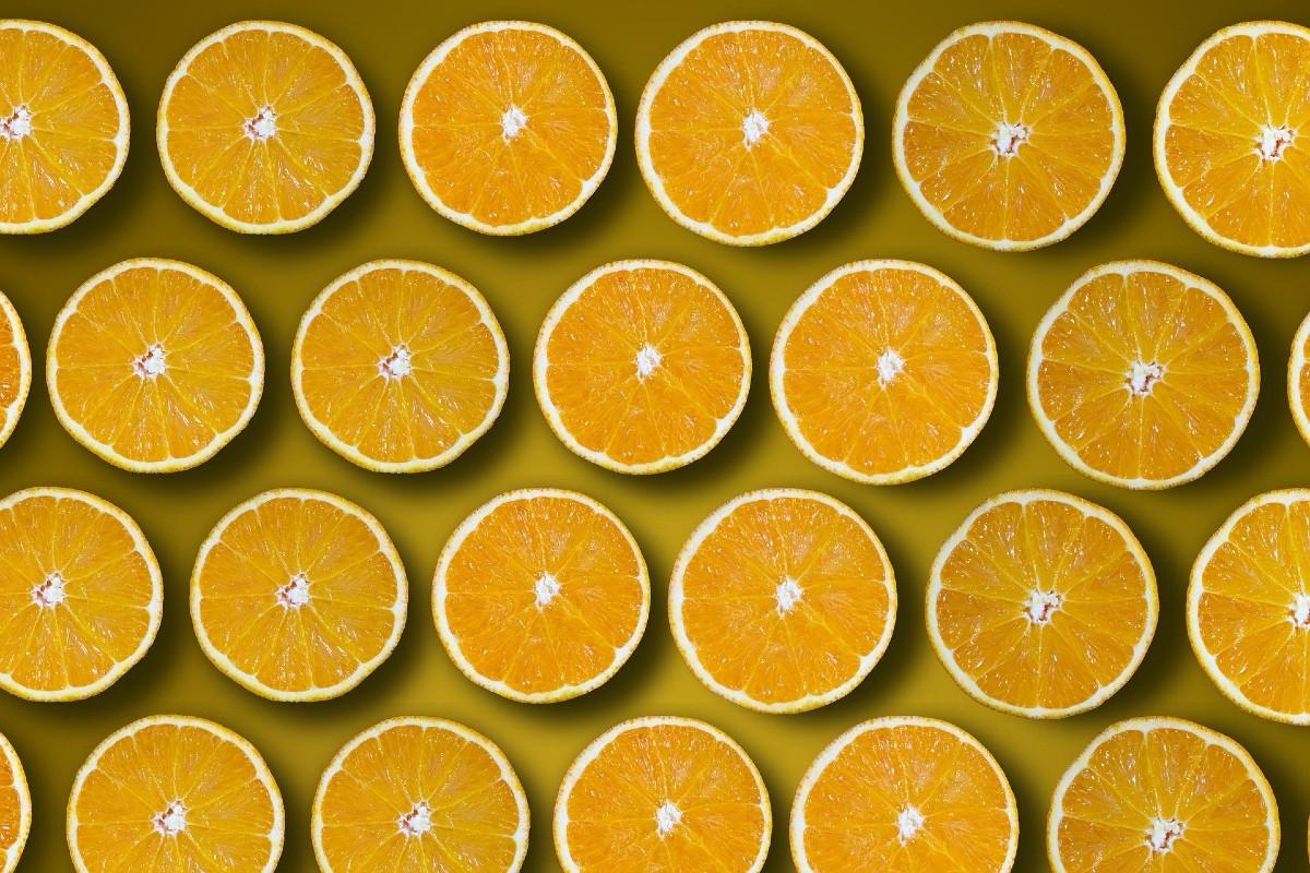 Rodajas de naranja.