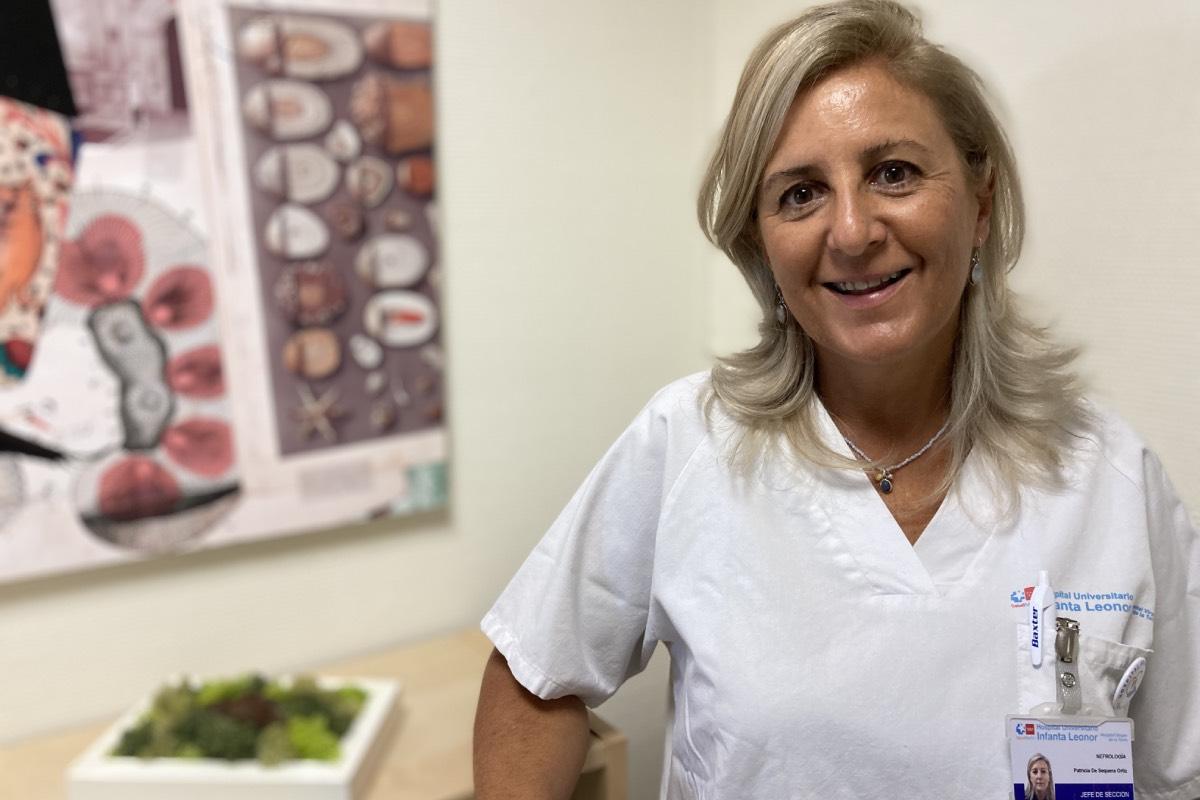 Patricia de Sequera Ortiz, en un receso de su trabajo diario en el Hospital Universitario Infanta Leonor, de Madrid (Foto: SEN).
