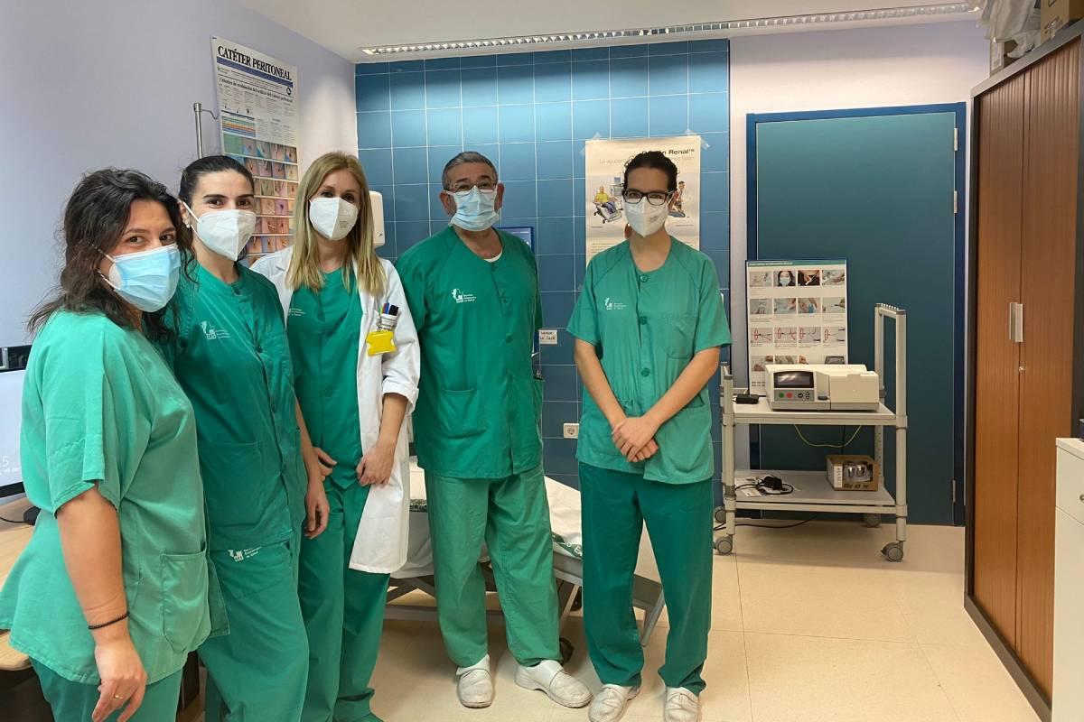 Integrantes del Servicio de Nefrología del Área de Salud de Plasencia, en Cáceres.