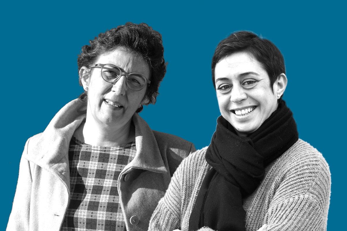 Las pacientes Concha Gómez y Leonor Anglès.