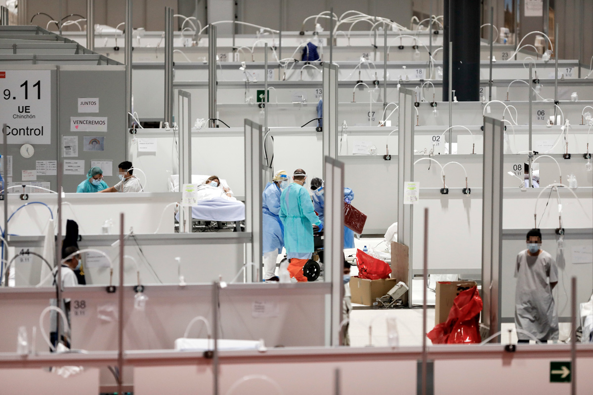Hospital de campaña de Ifema, en Madrid.  (FOTO: Alberto Di Lolli)