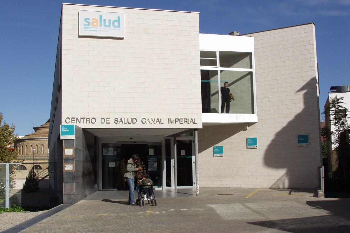 Fachada de un centro de primaria adscrito al Servicio Aragonés de Salud, en Zaragoza (Foto: Salud).