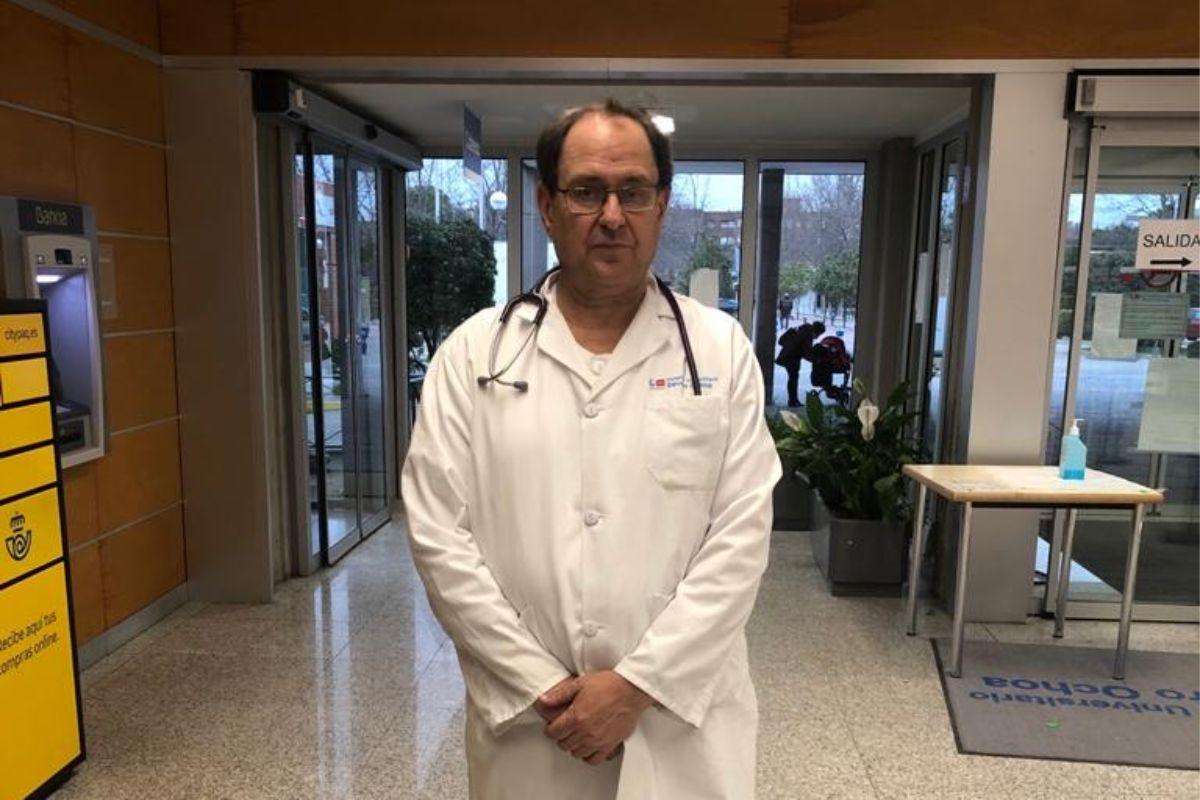 Miguel Cervero, del Hospital Severo Ochoa de Leganés, en Madrid, coordina un nuevo estudio sobre vitamina D y covid-19.