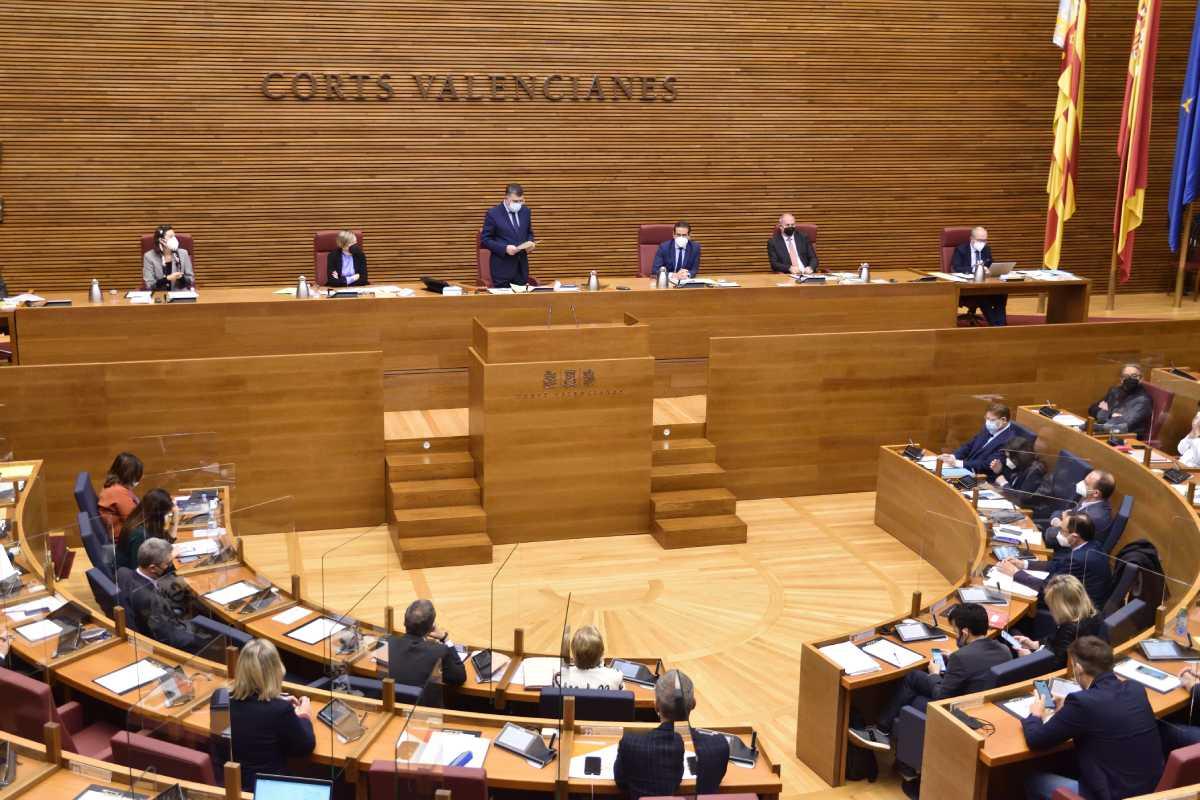 Pleno de las Cortes Valencianas celebrado este jueves.