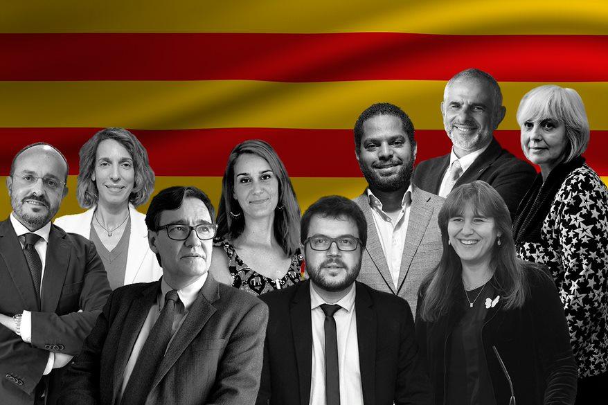 Los presidenciables en las elecciones catalanas del 14F.