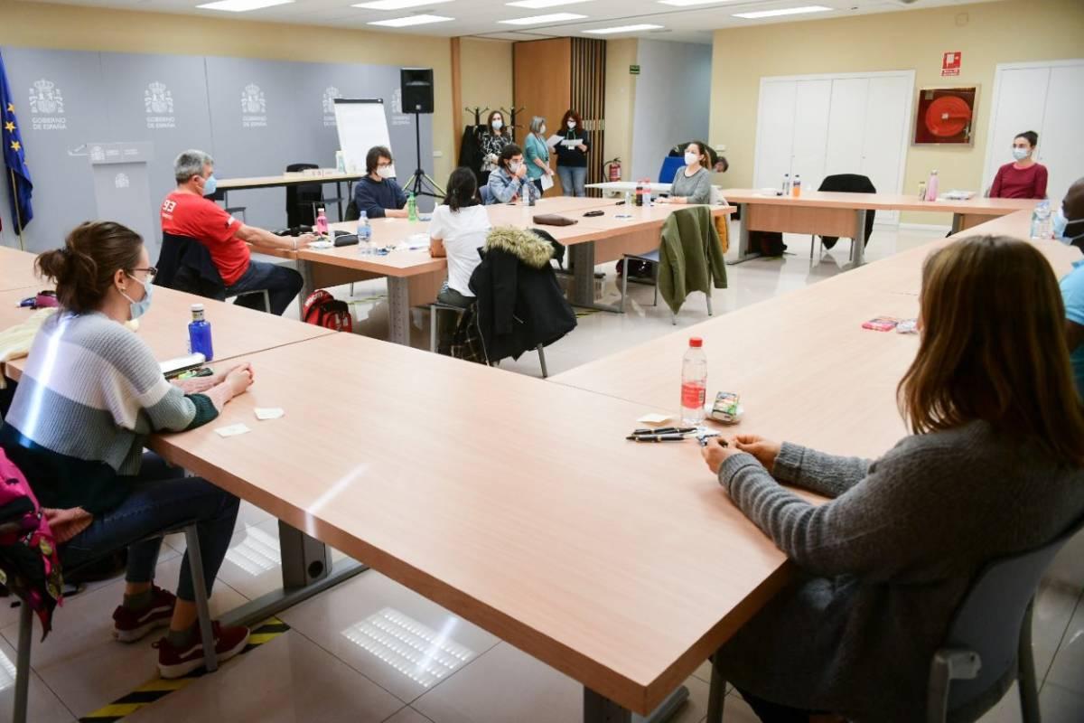 Una de las aulas donde se ha desarrollado el examen MIR 2021.
