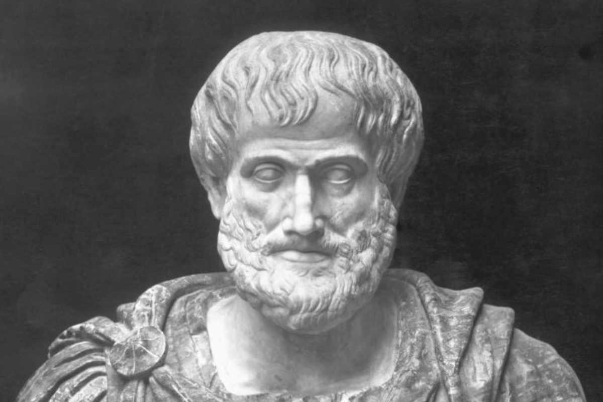 Busto del filósofo griego Aristóteles.