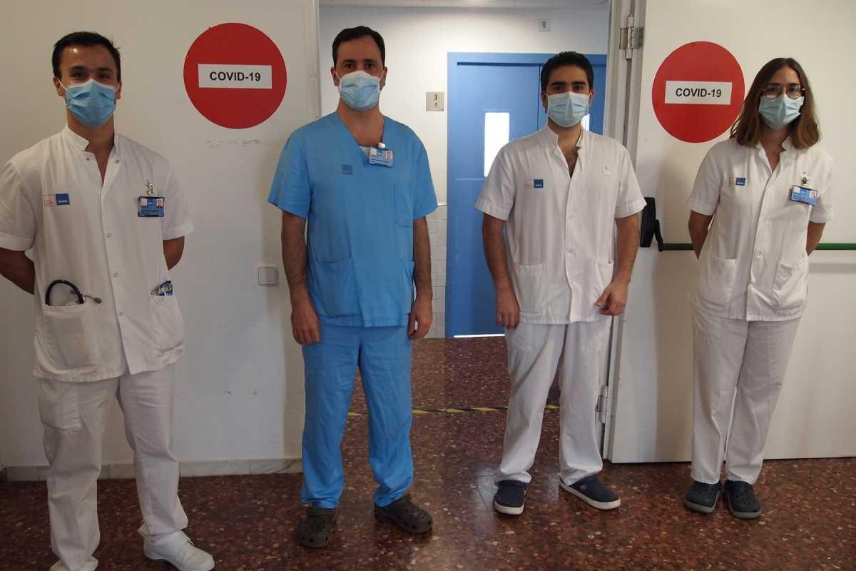 Jose Gregorio González, Diego Rodríguez Chiaradia, Roberto Chalela y Diana Badenes, del Hospital del Mar.