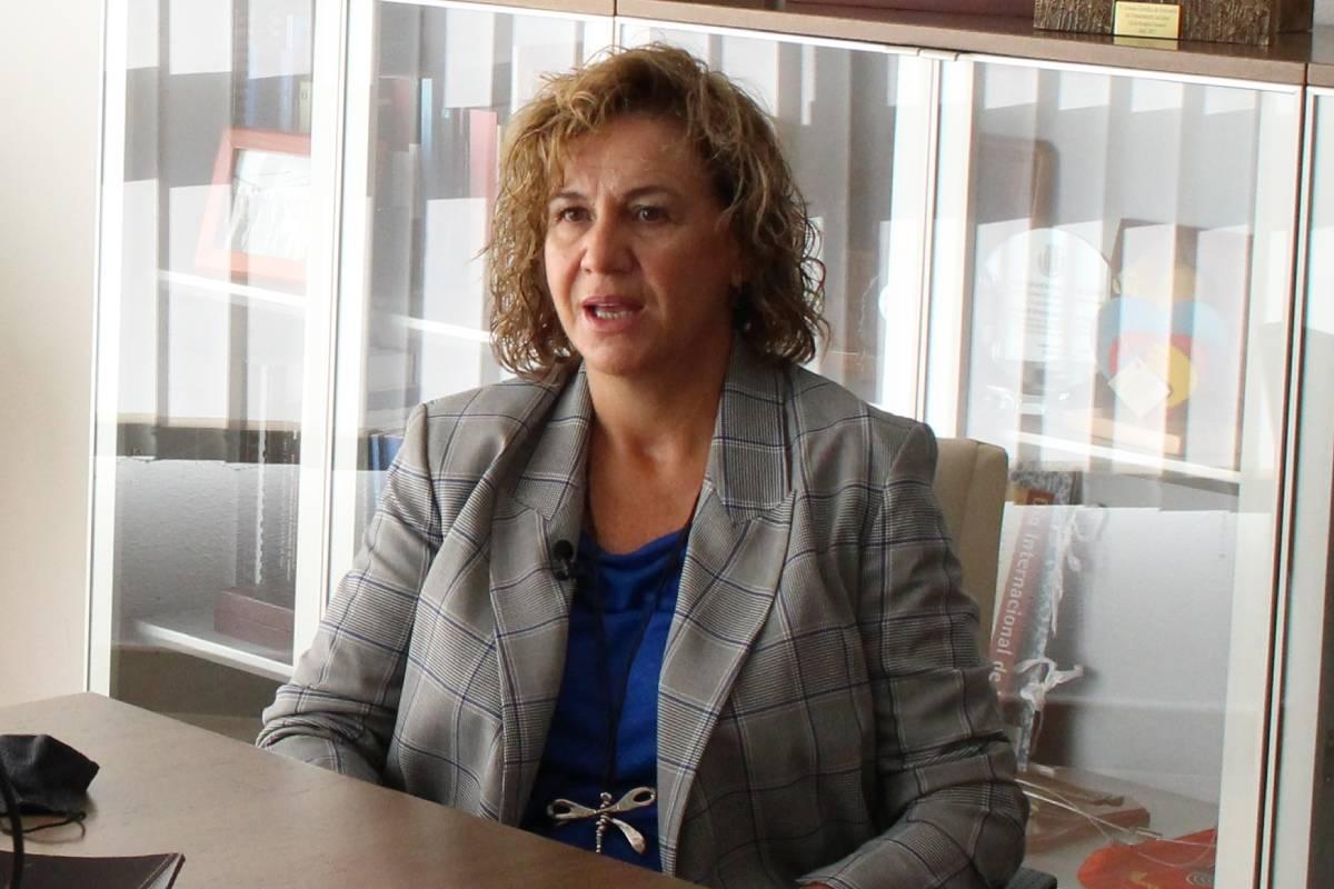 Montserrat Angulo, presidenta del Colegio de Enfermer�a de Alicante.