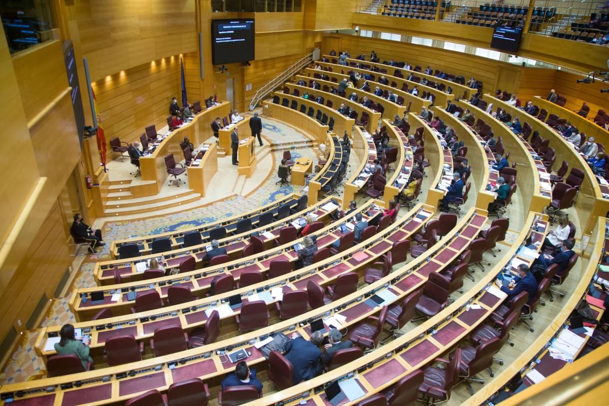 El Pleno del Senado durante el debate de la propuesa de ley de regulación de la eutanasia.
