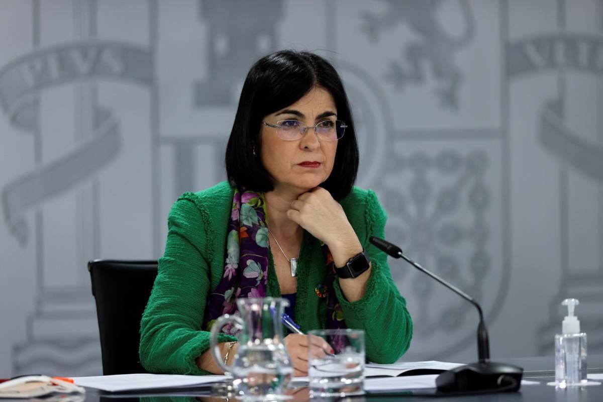 Carolina Darias, ministra de Sanidad, tras el Consejo Interterritorial del 22 de marzo (EFE/Juanjo Martín)