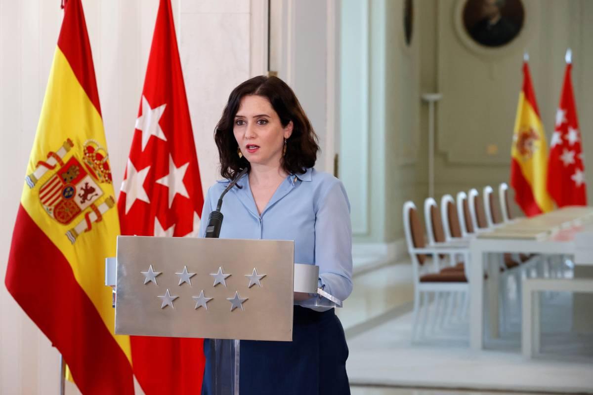 Isabel Díaz Ayuso, presidenta de la Comunidad de Madrid, anunciado la convocatoria anticipada de elecciones (EFE/Zipi)