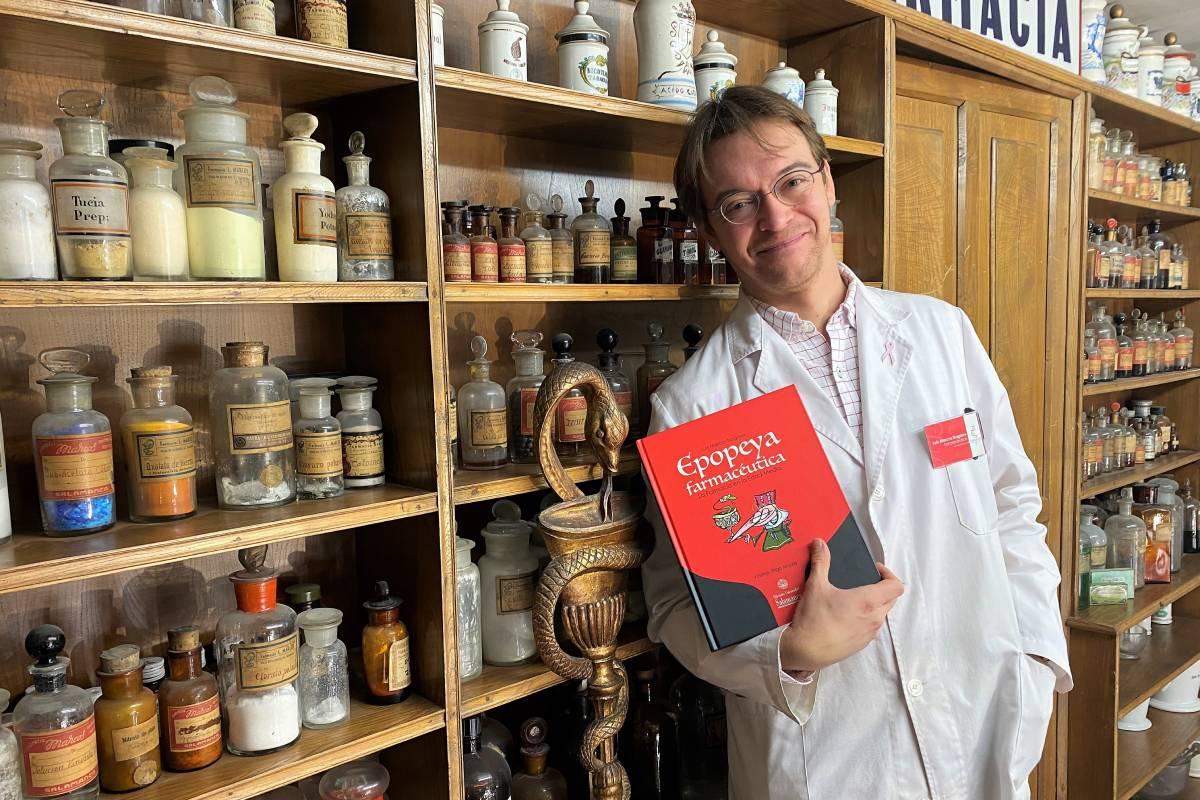Luis Marcos Nogales, farmacéutico y autor del libro 'Epopeya. La Farmacia en la Edad Media'.