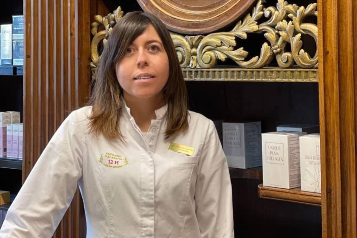 Miriam García, farmacéutica adjunta en Farmacia Malasaña (Madrid).