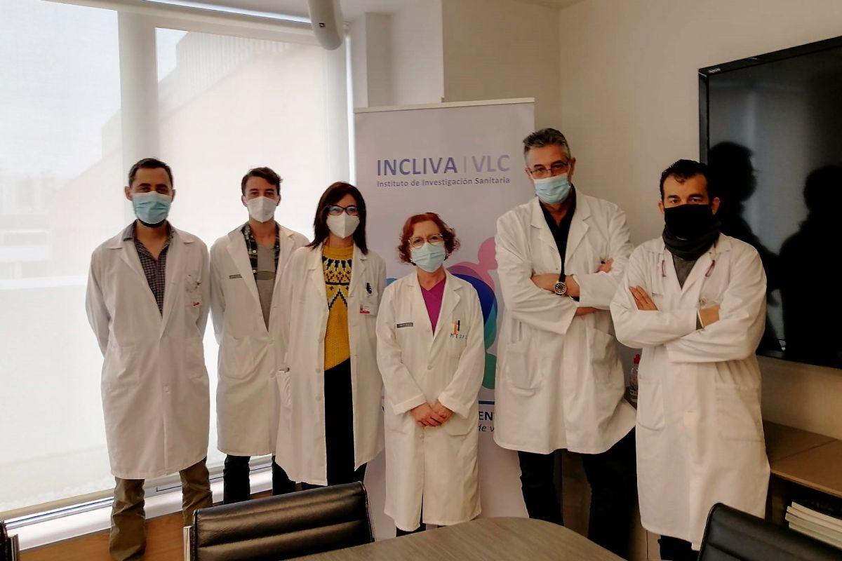 Los doctores Albert, Torres, Clari, Alcaraz, Navarro, y Colomina, del Incliva y autores del nuevo estudio.