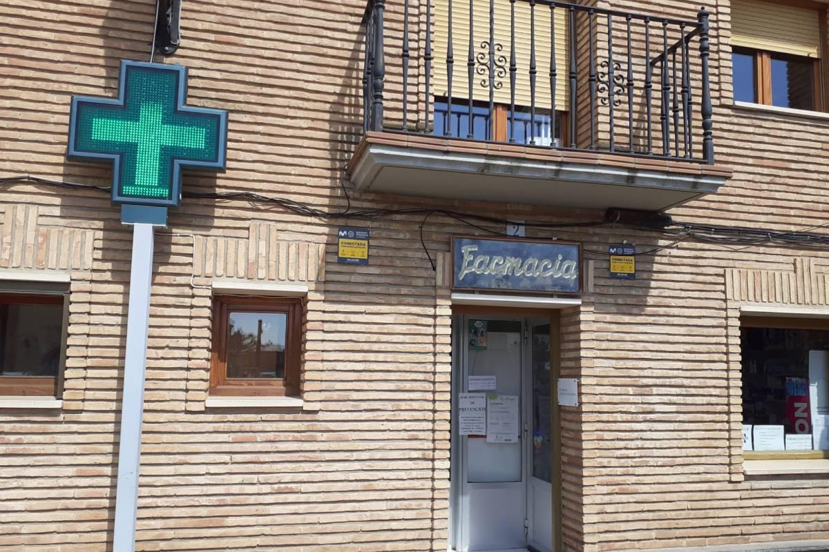 Una farmacia en Zaragoza.