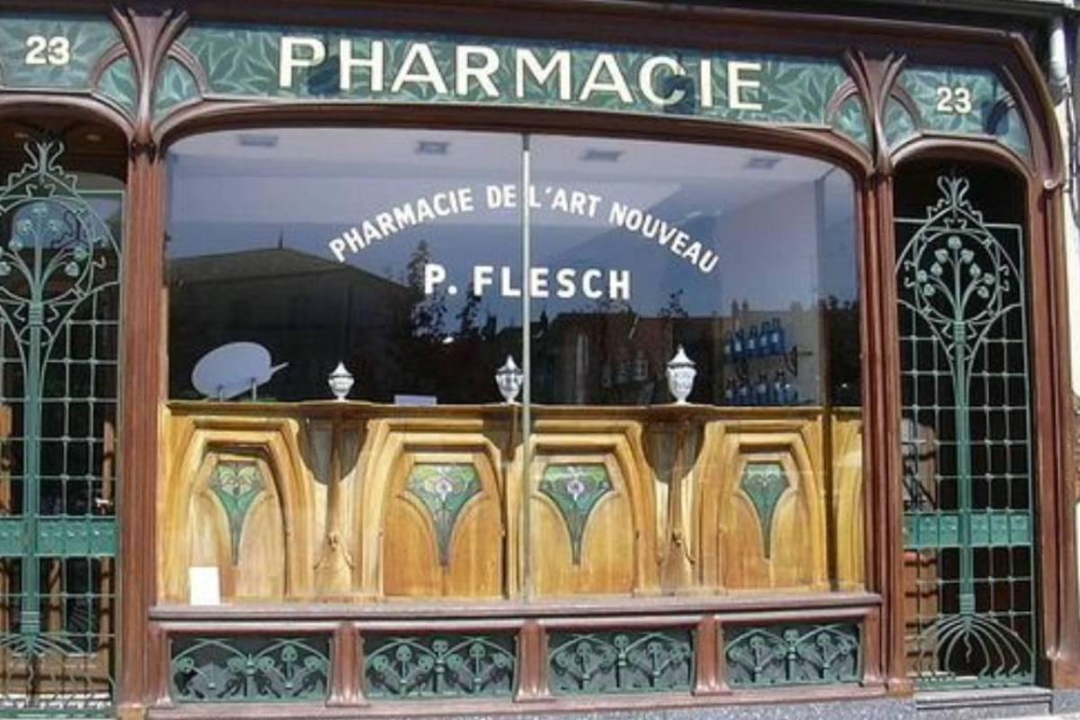 Farmacia localizada en Francia.