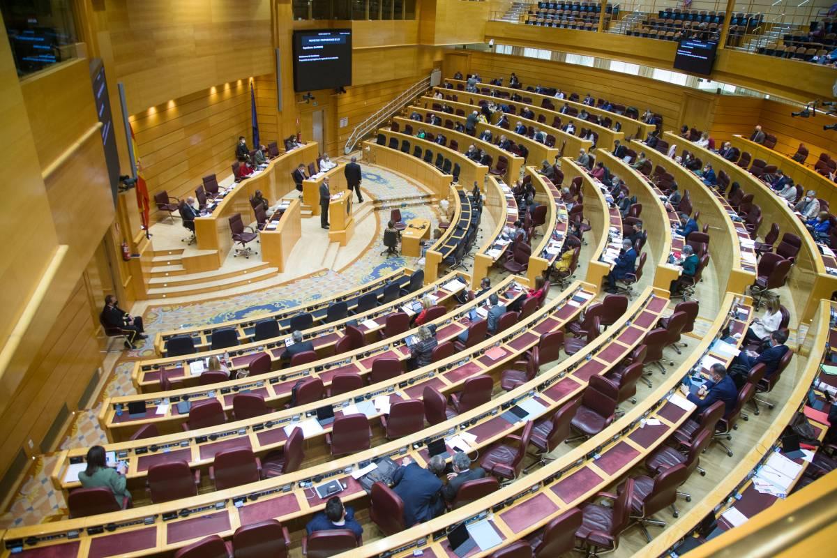 Pleno del Senado en el debate sobre la proposición de la ley de regulación de la eutanasia del 10 de marzo.