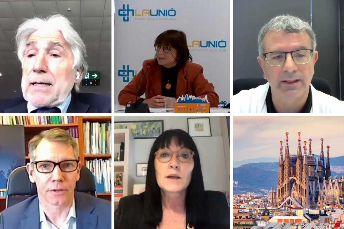 Participantes en el webinar de Fomento del Trabajo y la UCH.