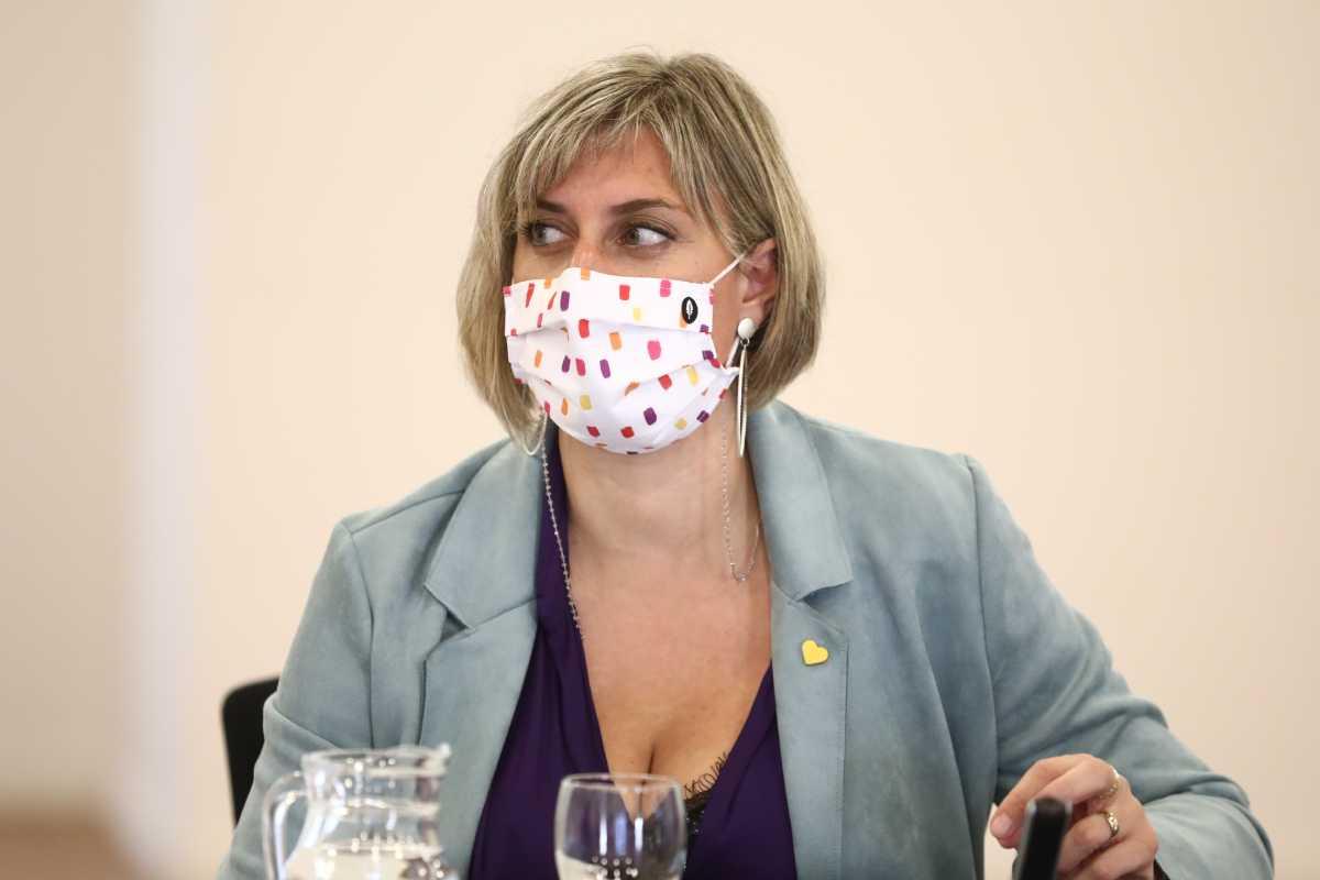 La consejera en funciones Alba Vergés en una rueda de prensa anterior. FOTO: Generalitat de Catalunya