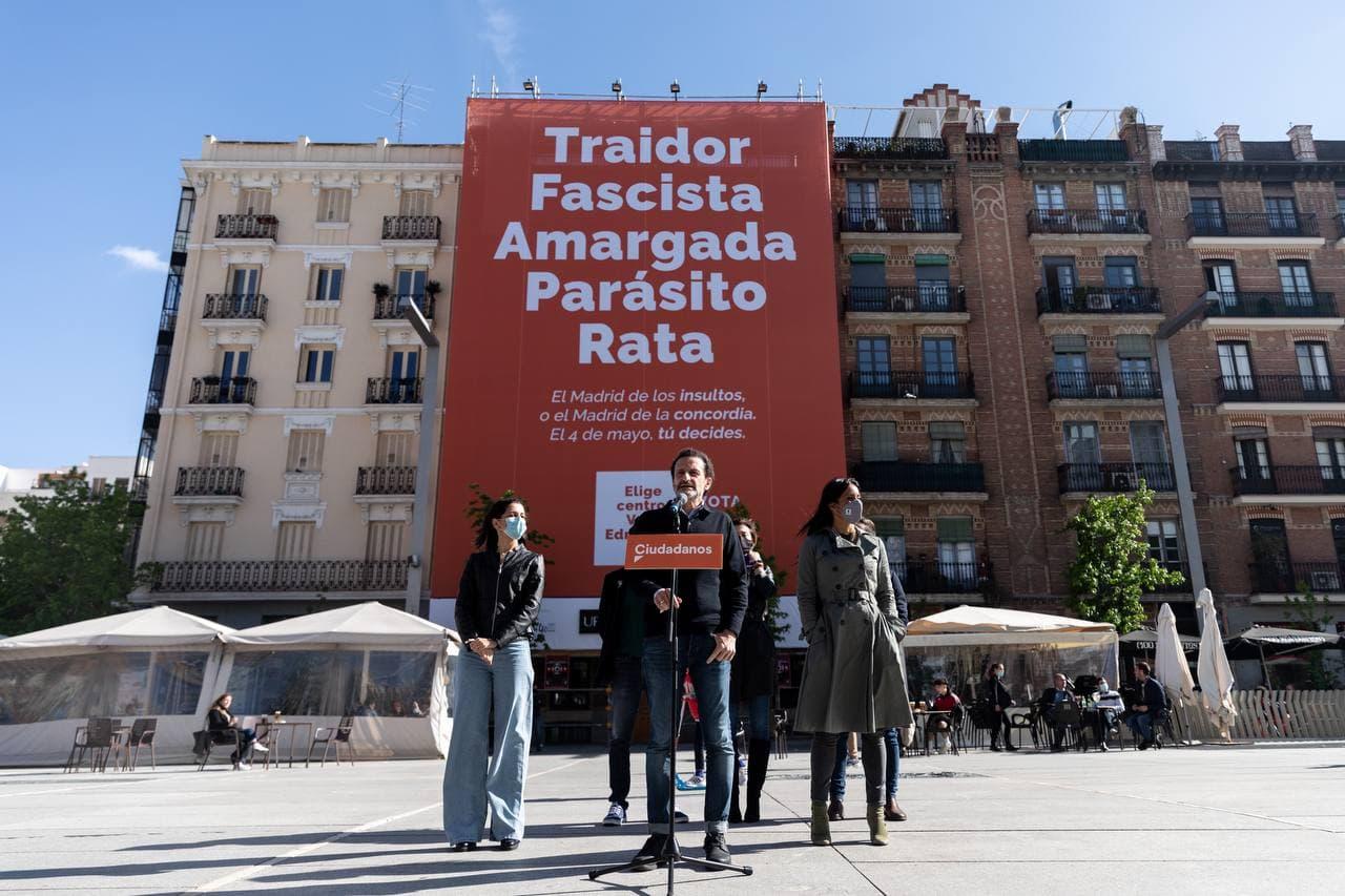 El candidato a la presidencia de Madrid por Ciudadanos, Edmundo Bal, durante un acto de campaña.