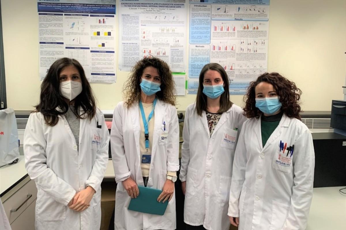 Luisa Hueso, Laura Piqueras (directora del Grupo de Investigación), Rebeca Ortega y Mireia López.