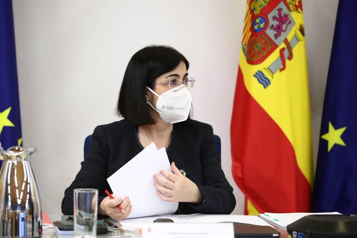 Carolina Darias, ministra de Sanidad, durante una reunión con sus homólogos de la UE (Moncloa/Fernando Calvo)