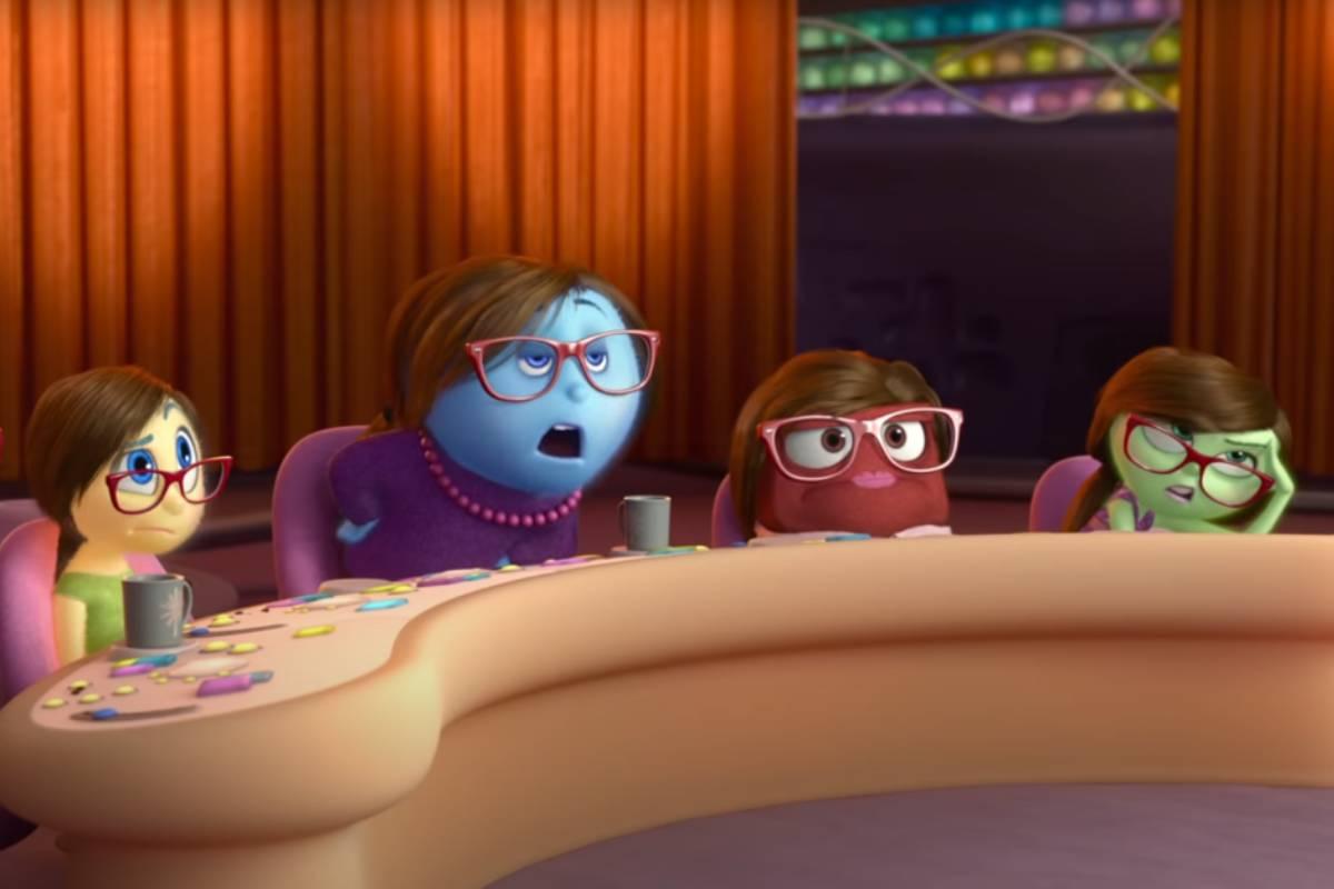 Imagen de la película Inside out (Del revés), en la que se explica los comportamientos de las personas a través de las reacciones de su cerebro.
