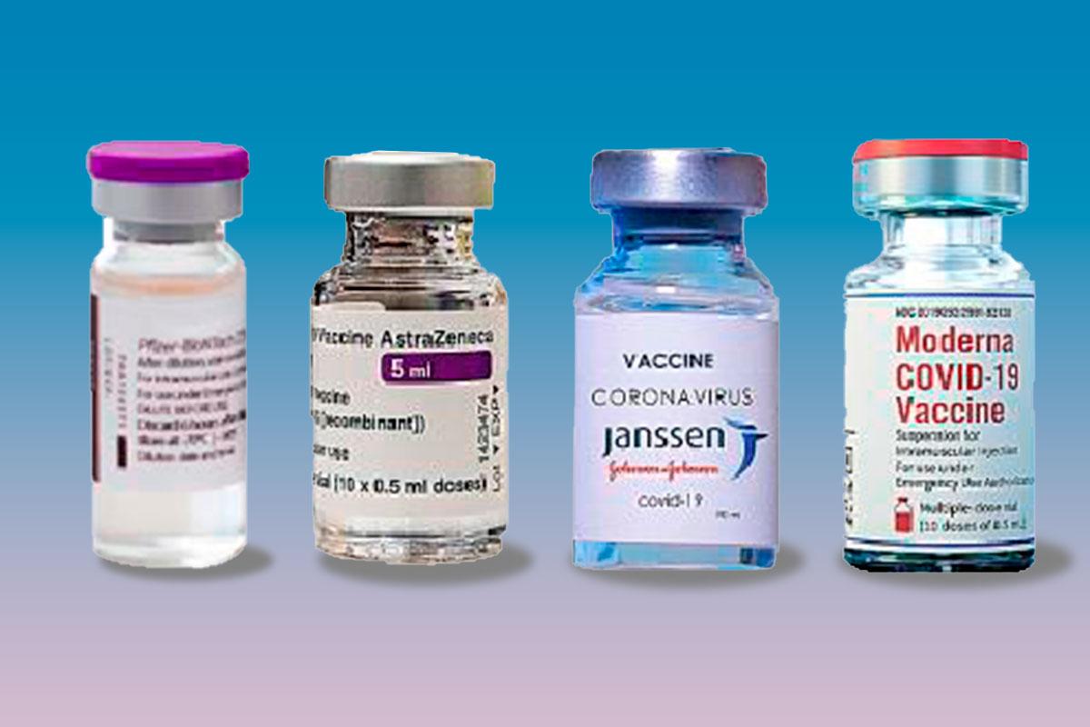 Viales de las diferentes vacunas