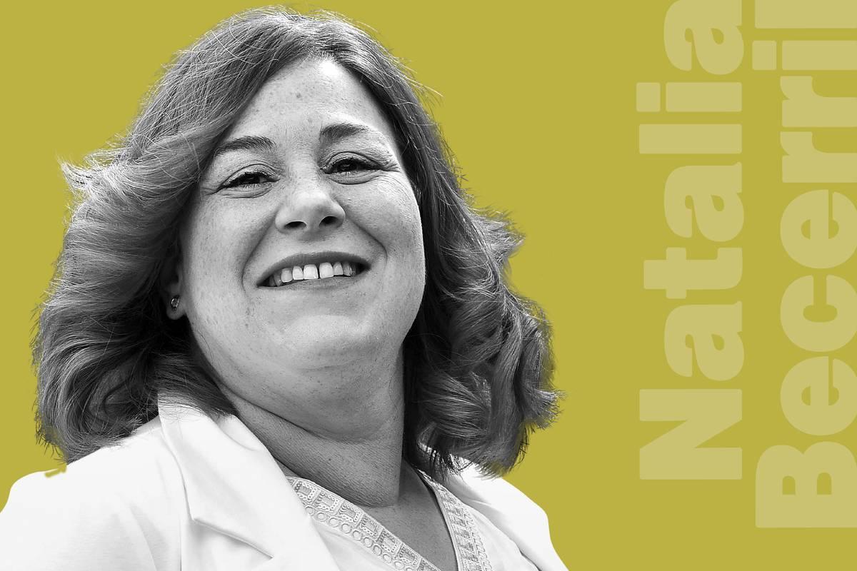 Natalia Becerril, enfermera de intensivos del Hospital Miguel Servet de Zaragoza (FOTO: Xavi Buil)