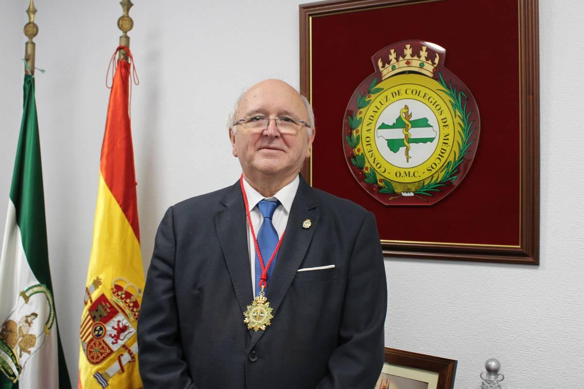 Antonio Aguado, presidente del Consejo Andaluz de Colegios de Médicos
