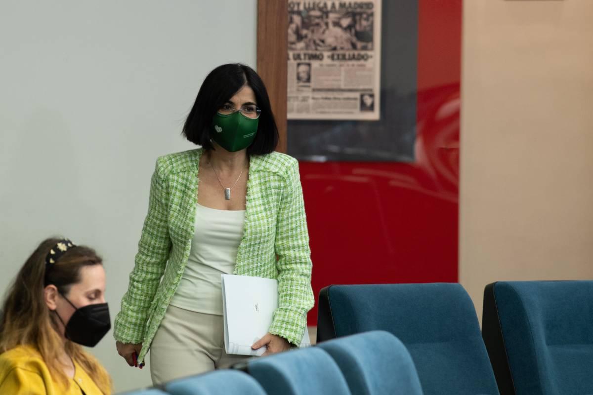 La ministra de Sanidad, Carolina Darias, tras el Consejo Interterritorial del 5 de mayo (Foto: Moncloa / Borja Puig de la Bellacasa)