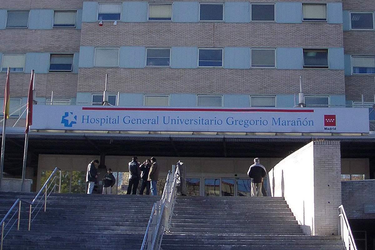 Fachada del Hospital Gregorio Marañón, en Madrid.