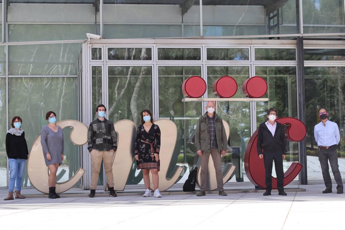 Sara Martínez Martínez, María José Méndez Olivares, Álvaro Alfayate, , Andrea de la Fuente-Alonso,  Miguel R. Campanero, Juan Miguel Redondo y Jesús Vázquez, del CNIC.