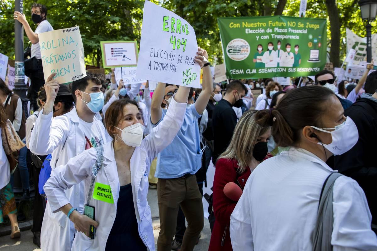 Los aspirantes MIR, EIR y FIR 2021 se quejan de los errores técnicos en la web del Ministerio de Sanidad (Foto: Bernardo Díaz)