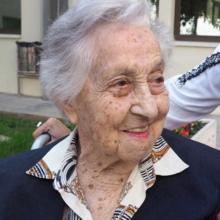 Mar�a Branyas, unaanciana de 113 años, residente en Olot, que ha superado la covid-19.
