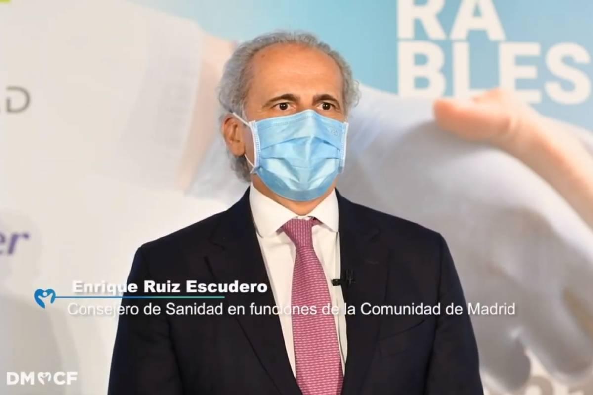 Enrique Ruiz Escudero, consejero de Sanidad en funciones de la Comunidad de Madrid.