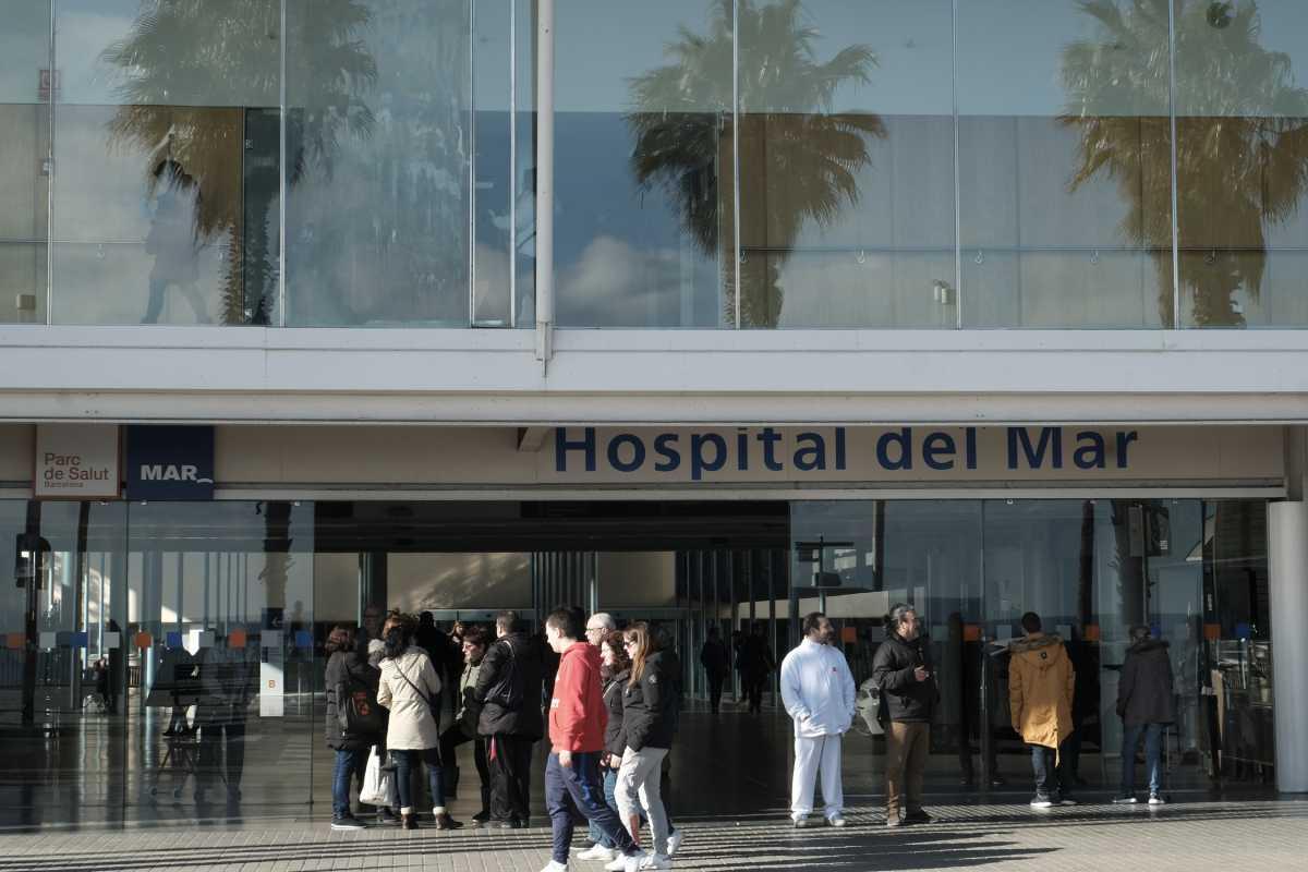Acceso al Hospital del Mar de Barcelona.