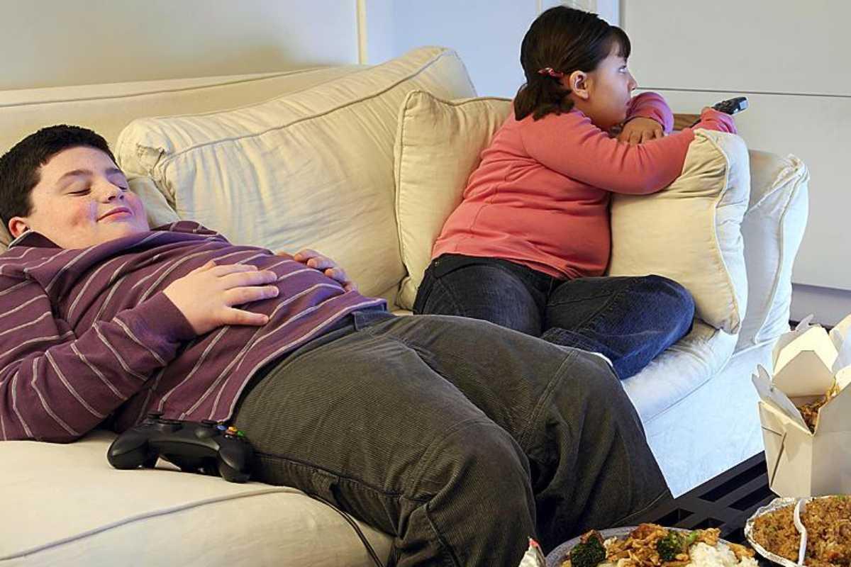 La obesidad infantil se relaciona con el sedentarismo.