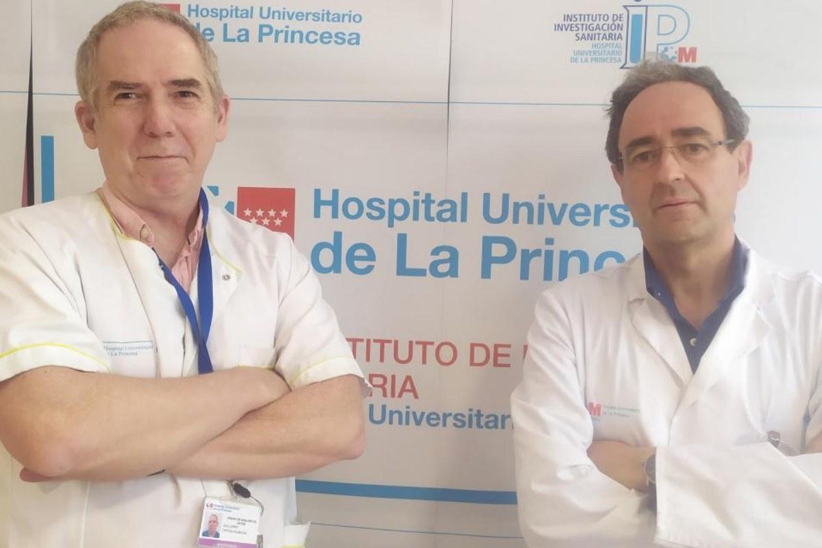 El f�sico Guillermo J. Ortega y el cardiólogo Jesús Jiménez Borreguero.